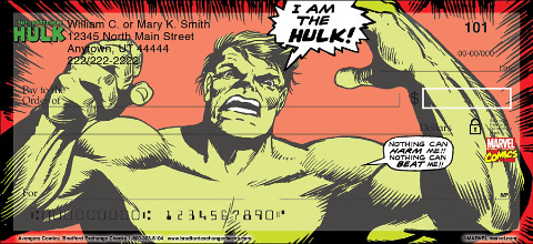 Avengers Comics Personal Checks 1801241001
