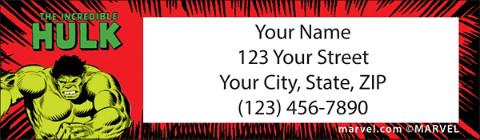 Avengers Comics Return Address Label 1801241011