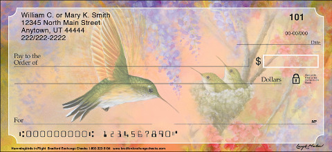 Hummingbirds in Flight Personal Checks 1801254001
