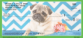 Chevron Pug Personal Checks