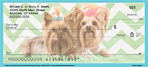 Chevron Yorkshire Terrier Personal Checks