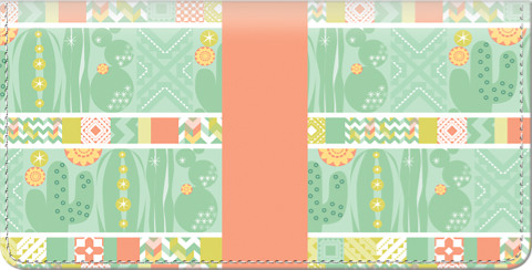 Cute Cacti Checkbook Cover