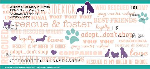 Rescue & Adopt Personal Checks
