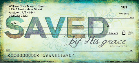 Saved by Faith Personal Checks 1801294001