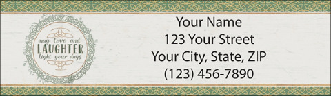 Faithful Irish Blessings Return Address Label