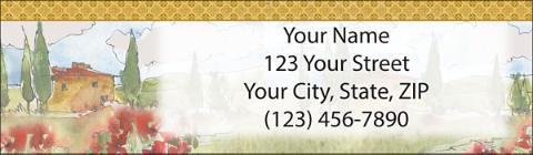 Tuscan Sun Return Address Label