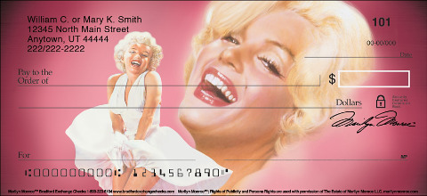 Marilyn Monroe(TM) Personal Checks
