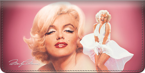 Marilyn Monroe(TM) Leather Checkbook Cover