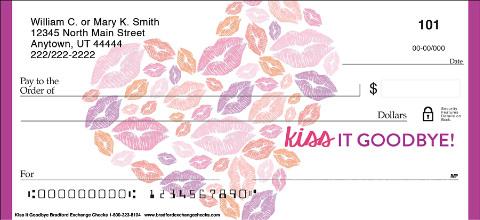 Kiss it Goodbye Personal Checks