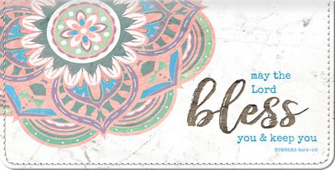 Mandala of Life Fabric Checkbook Cover