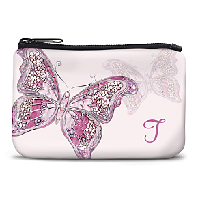 On the Wings of Hope Monogram - T - Coin Purse
