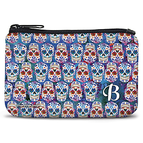 Day of the Dead Monogram - B - Coin Purse (1801343003) photo