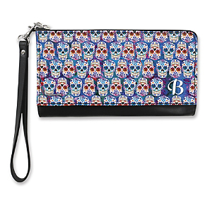 Day of the Dead Monogram - B - Large Wristlet Purse (1801345003) photo