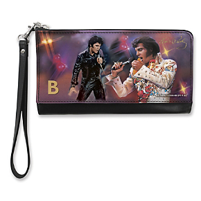 Remembering Elvis(TM) Monogram - B - Large Wristlet Purse (1801348003) photo