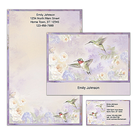 Lena Liu Plates Lena Liu's Flights Of Fancy Personalized Stationery