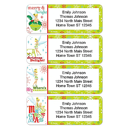 Disney Tinkerbell Tinker Bell Holiday Address Labels