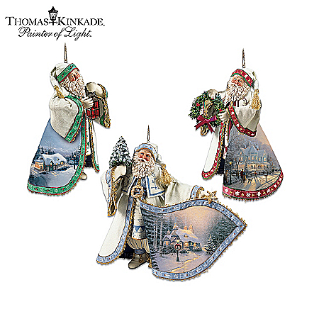 Thomas Kinkade Heirloom Santa Christmas Ornament Collection 43792