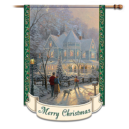Thomas Kinkade Decorative Flag Collection: Outdoor Holiday Decorations