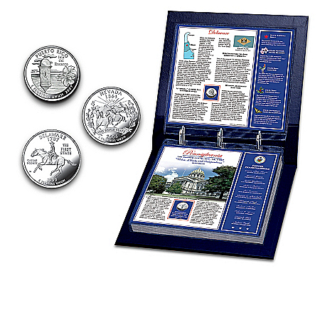 The United States Statehood Commemorative Coin Collection: Uncirculated 50 State Quarters