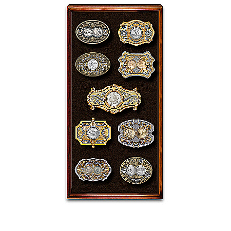 Coins Of The Wild West Belt Buckle Collection