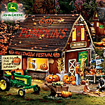 click for Full Info on this John Deere Halloween Village Collection
