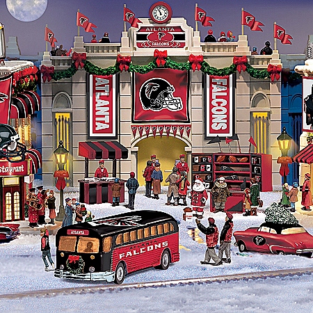 Atlanta Falcons Collectible Christmas Village Collection