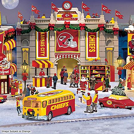 Kansas City Chiefs Collectible Christmas Village Collection