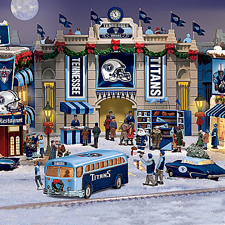 Christmas Village Collectibles Tennessee Titans Collectible Christmas Village Collection