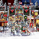 Motorcycle City Collectible Christmas Village Collection