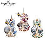 Thomas Kinkade Winter Angels Of Light Christmas Ornament Collection