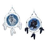 Dream Spirits Wolf Art Dreamcatcher Christmas Ornament Collection