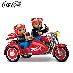 On The Go With Coca-Cola® Teddy Bear Motorcycle Figurine Collection