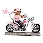 On The Road For A Cure Breast Cancer Biker Figurine Collection 48764