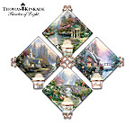 Thomas Kinkade Candleholder Quartet Collector Plate Collection