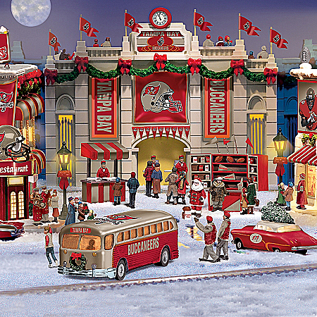 Christmas Village Collectibles Tampa Bay Buccaneers Collectible Christmas Village Collection