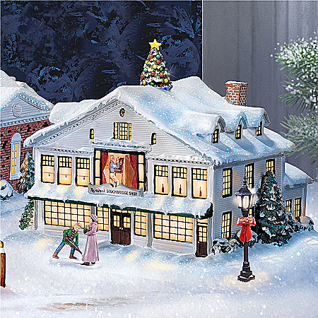 Christmas Village Collectibles Norman Rockwell Collectible Christmas Village Collection
