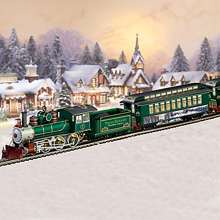 The Thomas Kinkade Christmas Express Electric Train Collection