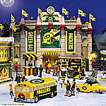 Green Bay Packers Super Bowl Champs Collectible Christmas Village Collection