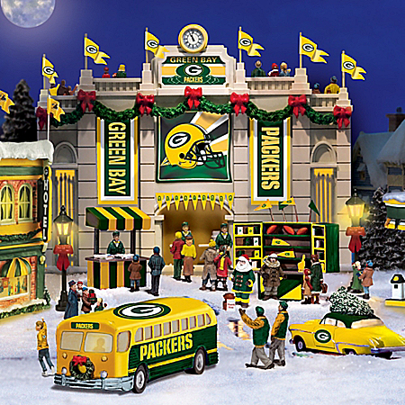 Green Bay Packers Collectible Christmas Village Collection
