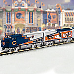 Collectible NFL Football Chicago Bears Express Electric Train Collection