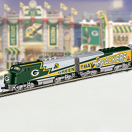 NFL Green Bay Packers Express Train Collection from The Bradford Exchange Online Product Image