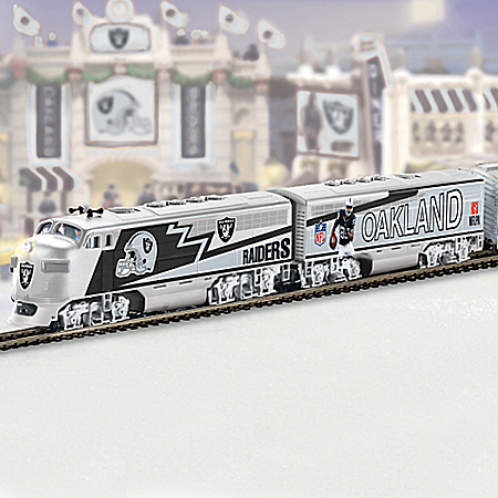 Oakland Raiders Express Collectible NFL Football Electric Train Collection