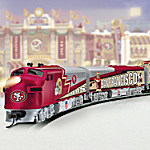 Collectible NFL Football San Francisco 49ers Express Electric Train Collection