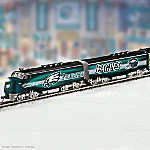 Collectible NFL Football Philadelphia Eagles Express Electric Train Collection