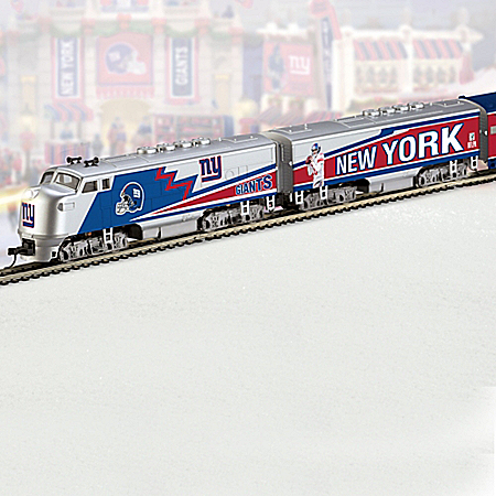 NFL-Licensed Giants Electric Train Collection