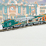 Collectible NFL Football Miami Dolphins Express Electric Train Collection