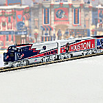Hawthorne Village Collectible NFL Football Houston Texans Express Electric Train Collection