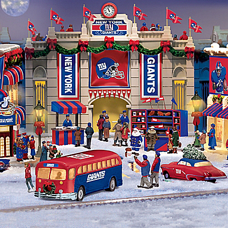 New York Giants Collectible Christmas Village Collection