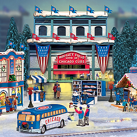 Chicago Cubs Major League Baseball Christmas Village Collection