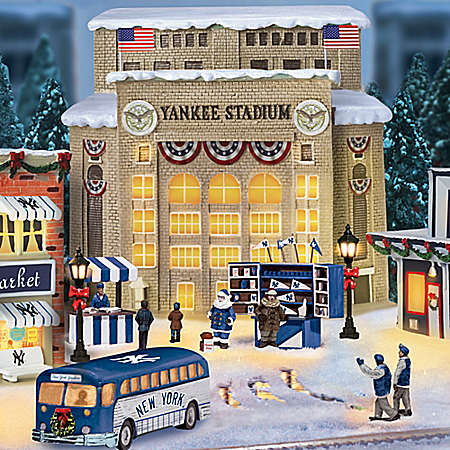 Christmas Village Collectibles New York Yankees Major League Baseball Christmas Village Collection